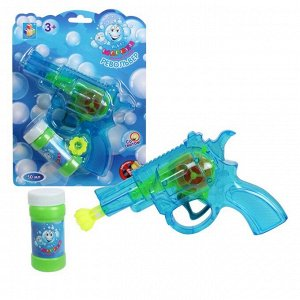 """Мы-шарики.Т58740 Мыльные пузыри с пистолетом механич. """"Револьвер"""" бут. 50 мл, цвет в ассорт."""