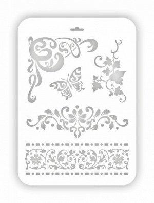 Трафарет декоративный пластиковый Бабочка 21*31см