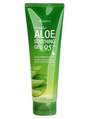 Deoproce Охлаждающий успокаивающий гель с 95% алоэ вера, Cooling Aloe Soothing Gel 95% 250гр