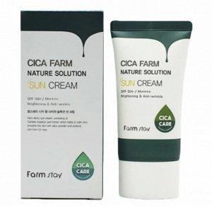 Farm Stay Cica Farm Nature Solution Sun Cream Успокаиваюий солнцезащитный крем с центеллой, 50гр