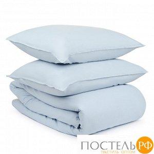 Комплект постельного белья небесно-голубого цвета из органического стираного хлопка из коллекции Ess 200х220 см