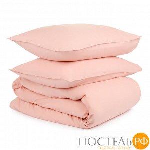 Комплект постельного белья цвета пыльной розы из органического стираного хлопка из коллекции Essenti 200х220 см