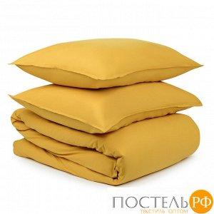 Комплект постельного белья горчичного цвета из органического стираного хлопка из коллекции Essential 200х220 см