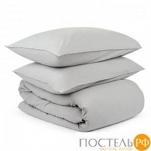 Комплект постельного белья серого цвета из органического стираного хлопка из коллекции Essential 200х220 см