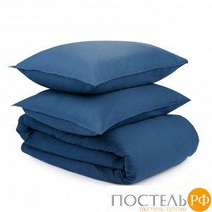 Комплект постельного белья темно-синего цвета из органического стираного хлопка из коллекции Essenti 200х220 см