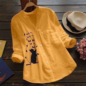 Рубашка ТКАНЬ: ЛЁН Светлее чем на фото, рисунок может отличаться Брак на доп фото