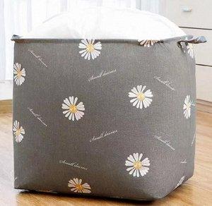 Корзина для белья текстильная 100 литров с завязками кт-01