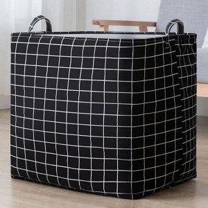 Корзина для белья текстильная 100 литров с завязками кт-04