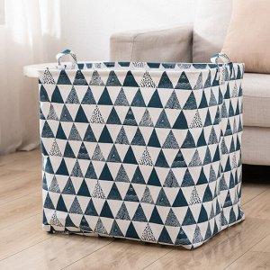 Корзина для белья текстильная 100 литров с завязками кт-06