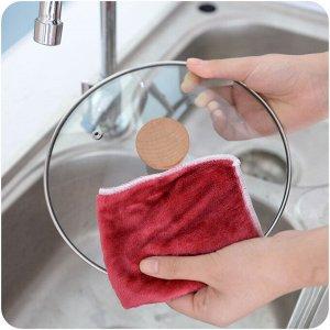 Тряпка бамбуковая для уборки и мытья посуды
