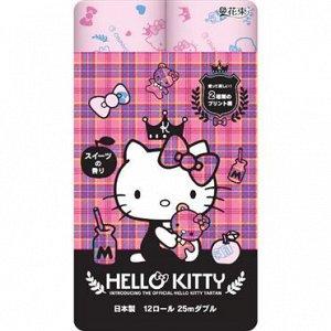"""Бумага туалетная Marutomi """"Hello Kitty Regular"""" 2-х слойная, 25м х 0,108м,12 рул/уп"""