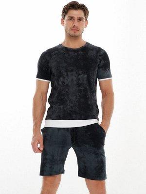 Мужская футболка варенка темно-серого цвета 221004TC