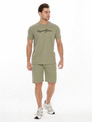 Комплект шорты и футболка хаки цвета 220031Kh