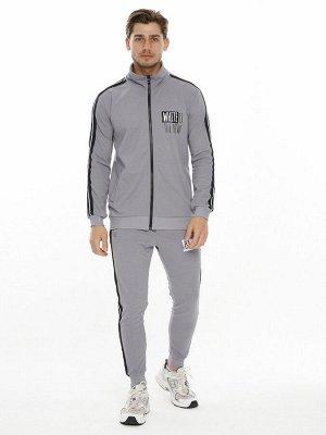 Спортивный костюм трикотажный серого цвета 9153Sr