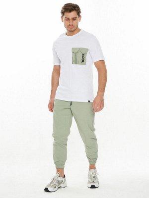 Костюм джоггеры с футболкой салатового цвета 221096Sl