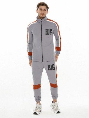 Спортивный костюм трикотажный серого цвета 9156Sr