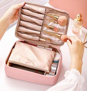 Несессер для косметики розовый