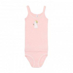 К 1111 Комплект для девочки (светло-розовый(зайчики в цветах)