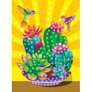 Набор ДТ Мозаика гелевая 19*26 см Цветущий кактус М-4889