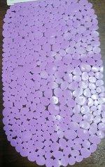 Коврик для ванной FOVERO SPA SOFT TOUCH МАТОВЫЙ Камушки с ракушками ПВХ 69х39см ЛАВАНДОВЫЙ