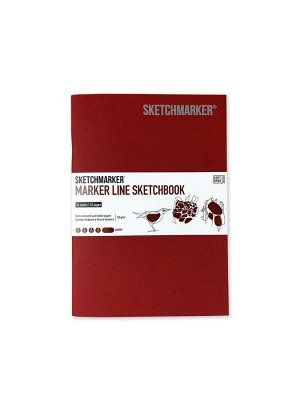 """Вишня, Скетчбук """"Marker Line"""" А5, 160г/м2, 16 листов, мягкая обложка, Sketchmarker"""