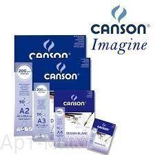 """А5(148*210 мм), Склейки для графики """"Mix Media Imagine"""" 200 г/м, 50 листов, Canson"""