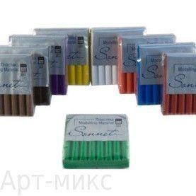 №6331 Красный с блёстками, Пластика СОНЕТ, 56 г