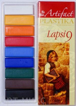 "Пластика (полимерная глина) ""LAPSI"" 9 классических цветов по 20 г, Артефакт"