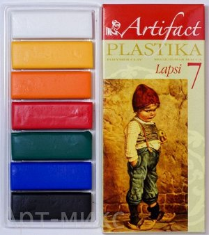 "Пластика (полимерная глина) ""LAPSI"" 7 классических цветов по 20 г, Артефакт"