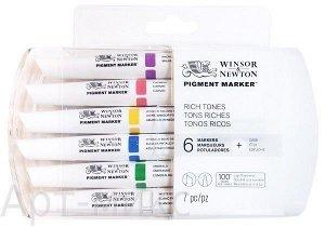 """""""Насыщенные оттенки"""", Набор  Pigment Marker, 6 цветов, Winsor&Newton"""