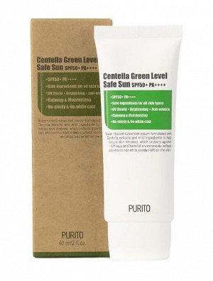 "PURITO SPF50 Крем солнцезащитный  ""Центелла"" Centella Green Level Safe Sun, 60м"