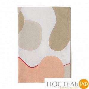 Полотенце кухонное бежевого цвета с авторским принтом из коллекции Freak Fruit 70х50 см