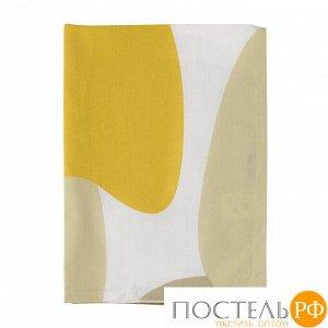 Полотенце кухонное горчичного цвета с авторским принтом из коллекции Freak Fruit 70х50 см