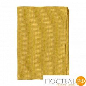 Полотенце кухонное вафельное горчичного цвета из коллекции Essential 70х50 см