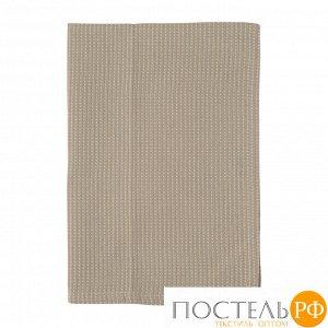 Полотенце кухонное вафельное бежевого цвета из коллекции Essential 70х50 см