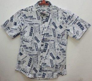 Мужская рубашка с надписями