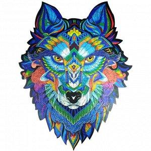 "Пазл из дерева ""Волк"""