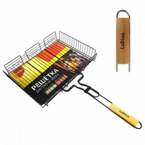 Решетка для гриля и барбекю 40*30*7 см С антипригарным покрытием