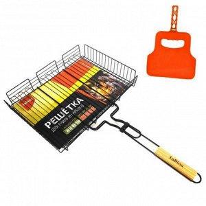 Решетка для гриля и барбекю 31*24*5,5 см С антипригарным покрытием