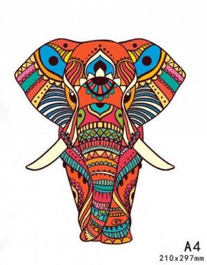 """Пазл из дерева """"Индийский слон"""""""