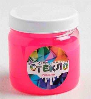 "Слайм ""Стекло"", XXL                              3 литра                                      Розовый неон"