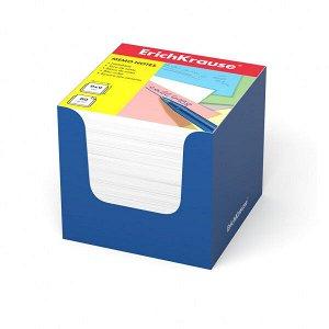 "Блок для записей ""ErichKrause"" 90х90х90 белый, в синей карт. подставке 1/12 арт. ЕК-37008"