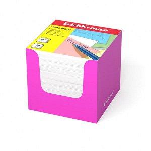 "Блок для записей ""ErichKrause"" 90х90х90 белый, в розовой карт. подставке 1/12 арт. ЕК-37010"