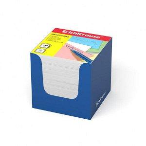 "Блок для записей ""ErichKrause"" 80х80х80 белый, в синей карт. подставке 1/24 арт. ЕК-36986"