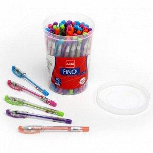 "Ручка шарик ""Cello Fino"" ассорти 0.7 мм (гол/фиол/оранж/зел/роз) пластик. стакан 1/50 арт. 305090000"
