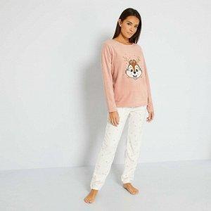 Пижамный комплект 'Disney' + подарочная упаковка - розовый