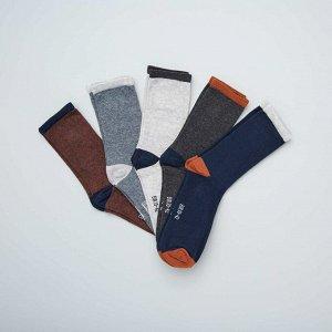 Комплект из 5 пар носков - коричневый