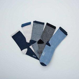 Комплект из 5 пар носков - голубой