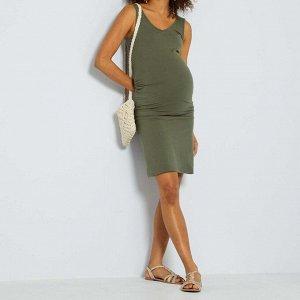 Платье для будущих мам 'Eco-conception' - оливковый