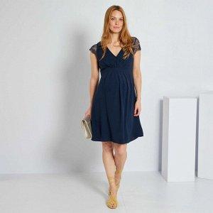 Платье для будущих мам - синий